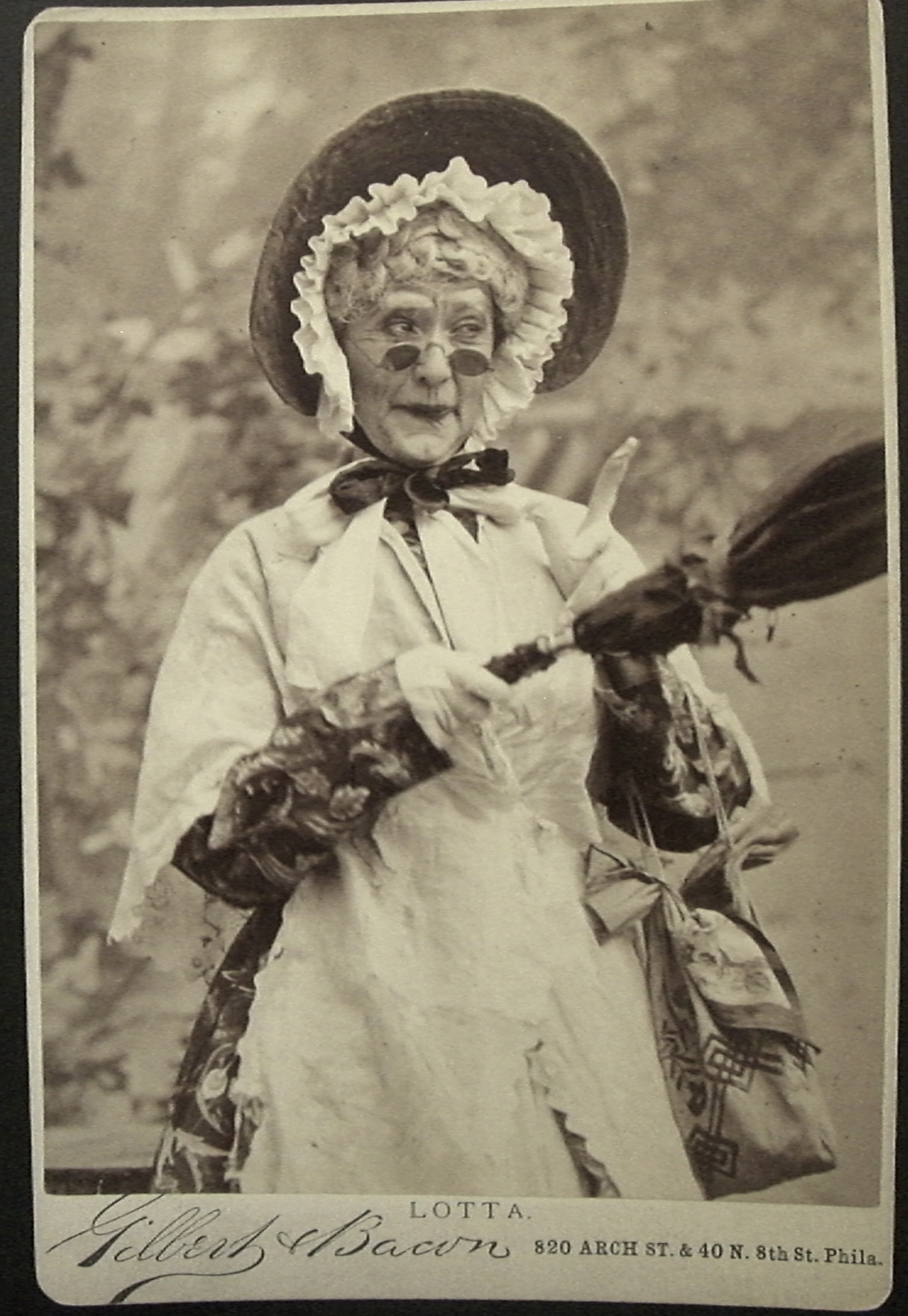 Lotta Crabtree as old woman | Broadway Photographs
